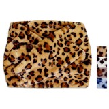 Cuellera velour animal print