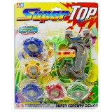 Trompos Super Top x4 en blister
