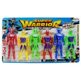 Muñecos Super Warrior x6 en blister