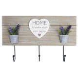Perchero de madera Home con lavanda